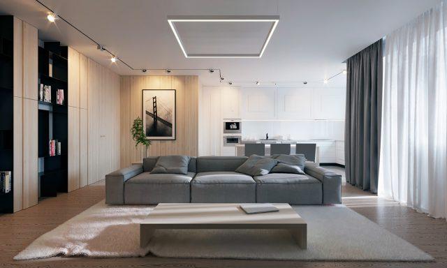mẫu phòng khách chung cư đẹp 8