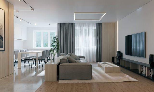mẫu phòng khách chung cư đẹp 3