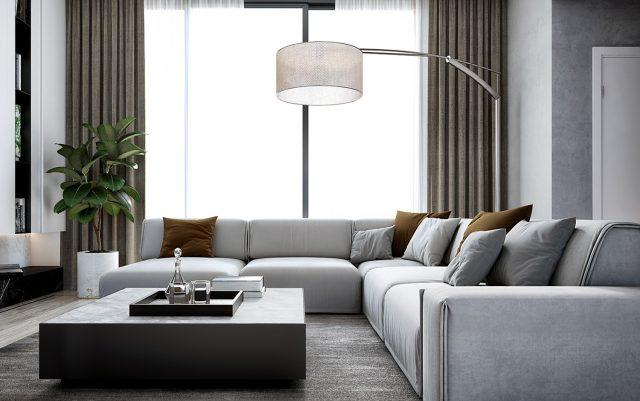 phòng khách chung cư đẹp hiện đại 4