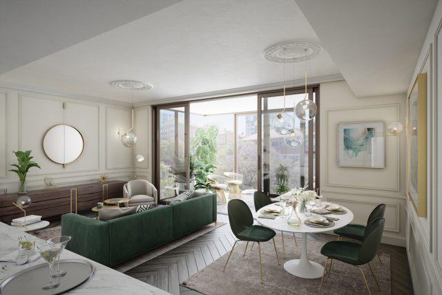 thiết kế phòng khách chung cư cao cấp 2