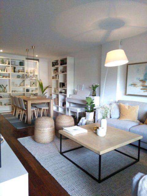 thiết kế phòng khách liên thông nhà bếp 2