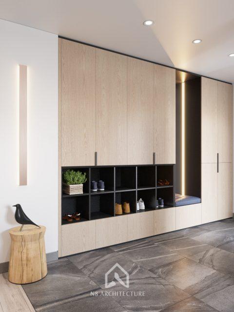 thiết kế nội thất phòng khách chung cư Tứ Hiệp Plaza