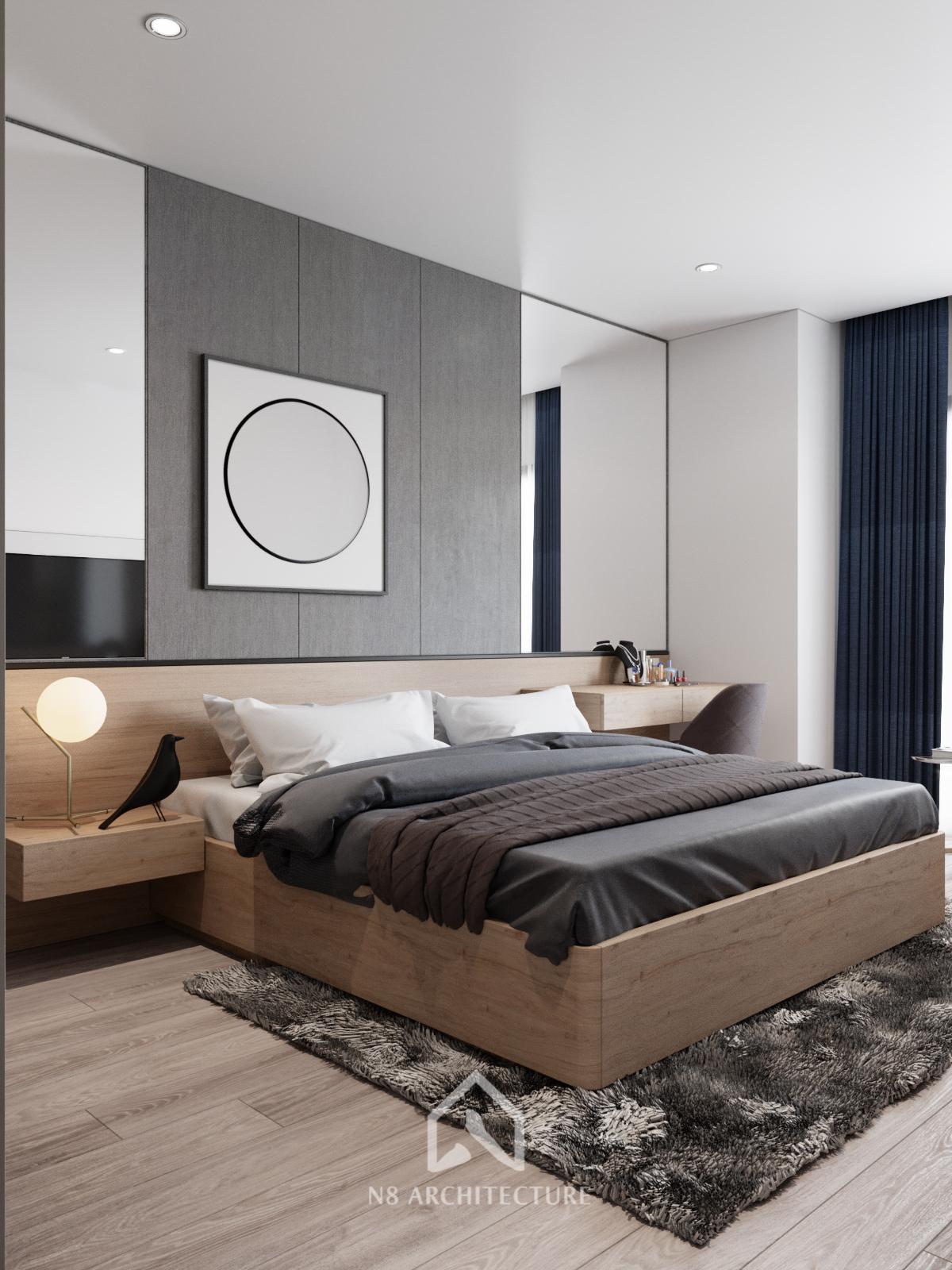 thiết kế nội thất phòng ngủ chung cư Tứ Hiệp Plaza 2