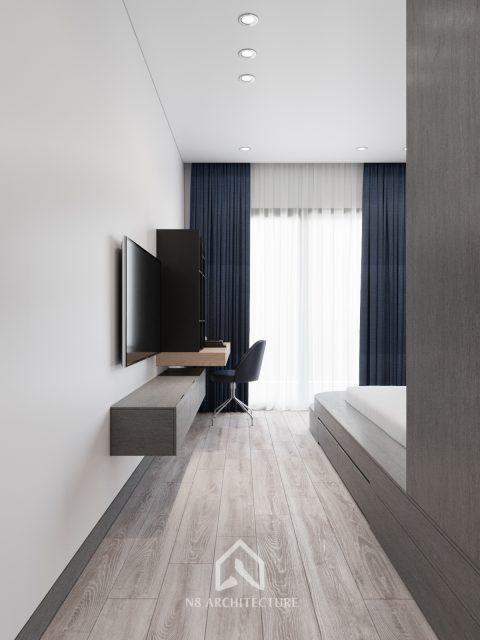 thiết kế nội thất phòng ngủ chung cư Tứ Hiệp Plaza 4