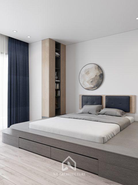 thiết kế nội thất phòng ngủ chung cư Tứ Hiệp Plaza 5