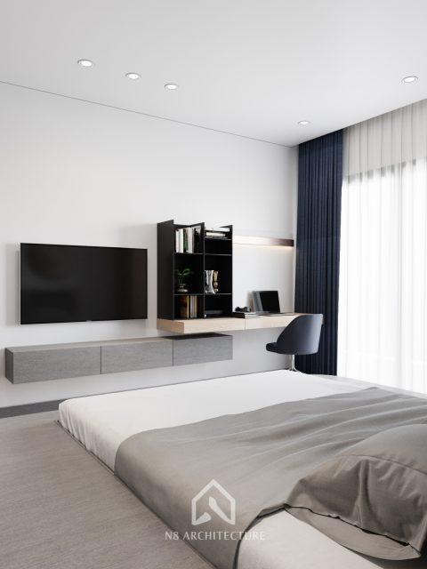 thiết kế nội thất phòng ngủ chung cư Tứ Hiệp Plaza 7
