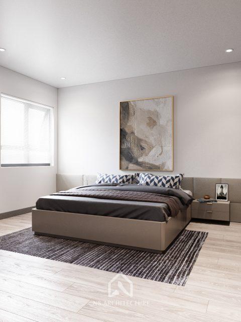 thiết kế nội thất phòng ngủ chung cư Tứ Hiệp Plaza 9