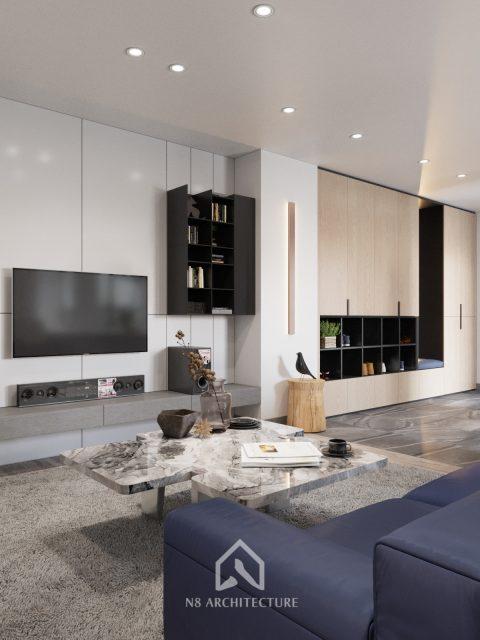 thiết kế nội thất chung cư Tứ Hiệp Plaza