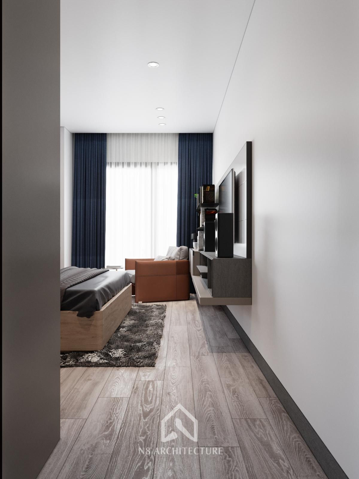 thiết kế nội thất phòng ngủ chung cư Tứ Hiệp Plaza