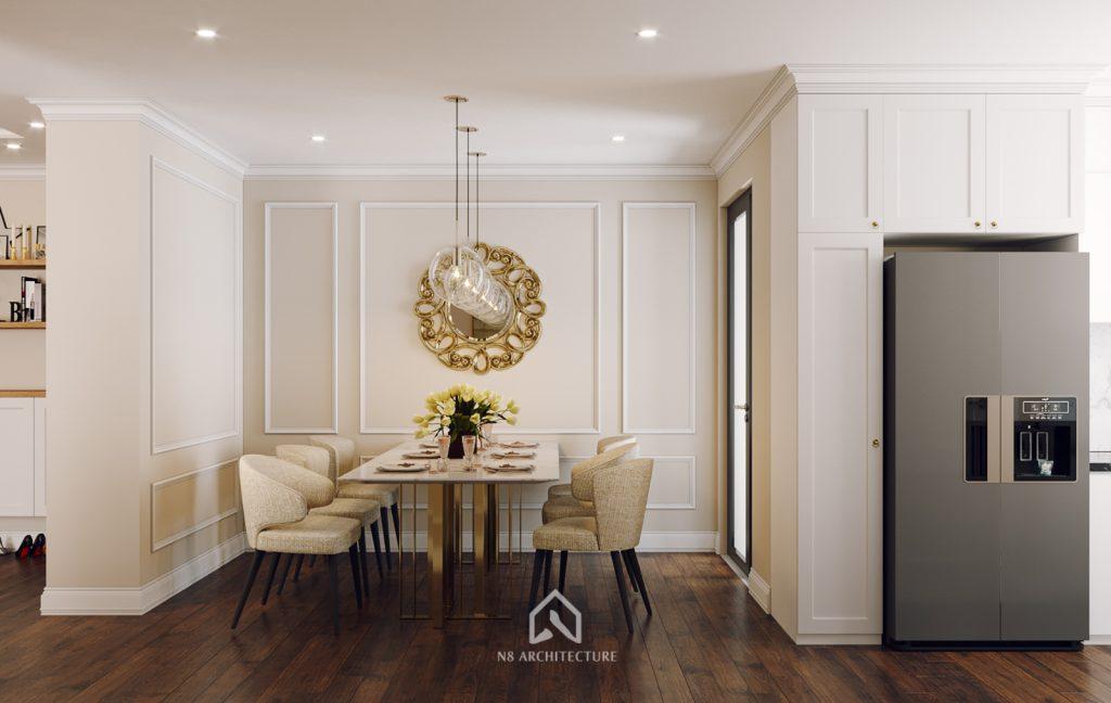 thiết kế nội thất khách bếp chung cư An Bình City 4