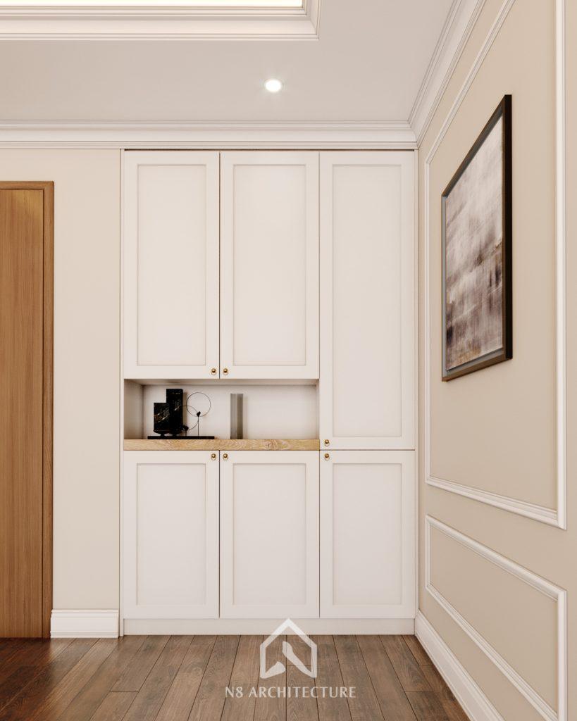 thiết kế nội thất khách bếp chung cư An Bình City 5