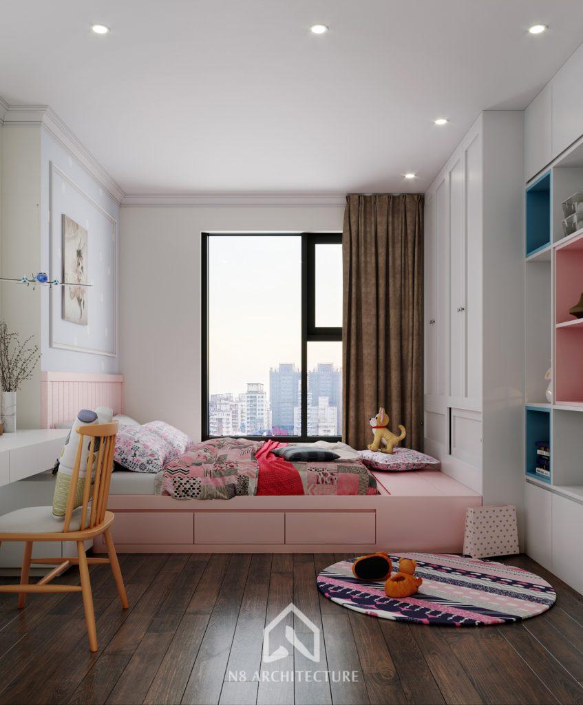 thiết kế nội thất phòng ngủ chung cư An Bình City 11