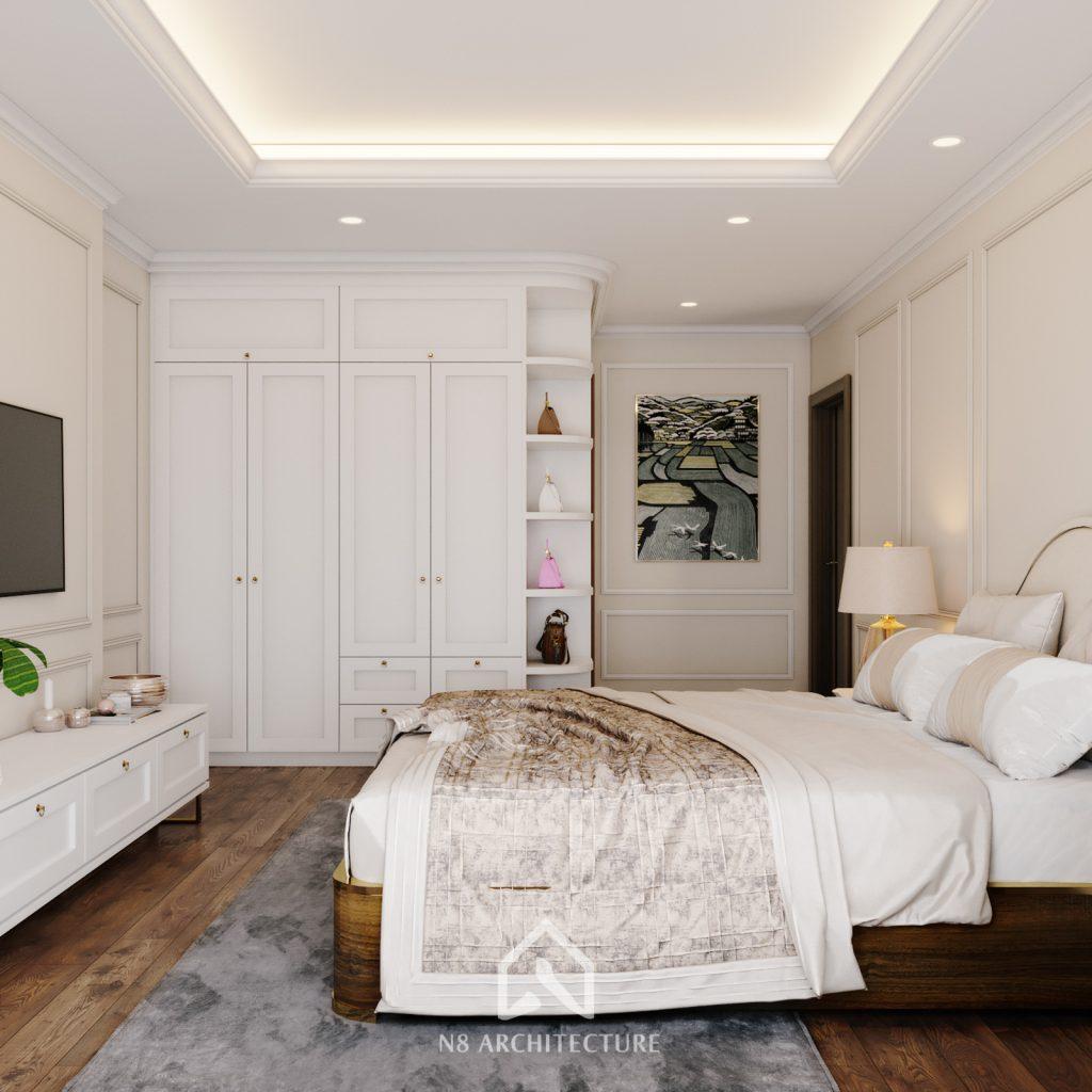 thiết kế nội thất phòng ngủ chung cư An Bình City 3
