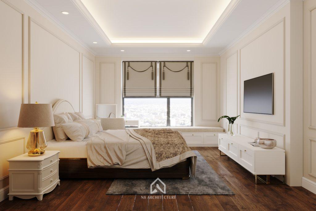 thiết kế nội thất phòng ngủ chung cư An Bình City 4