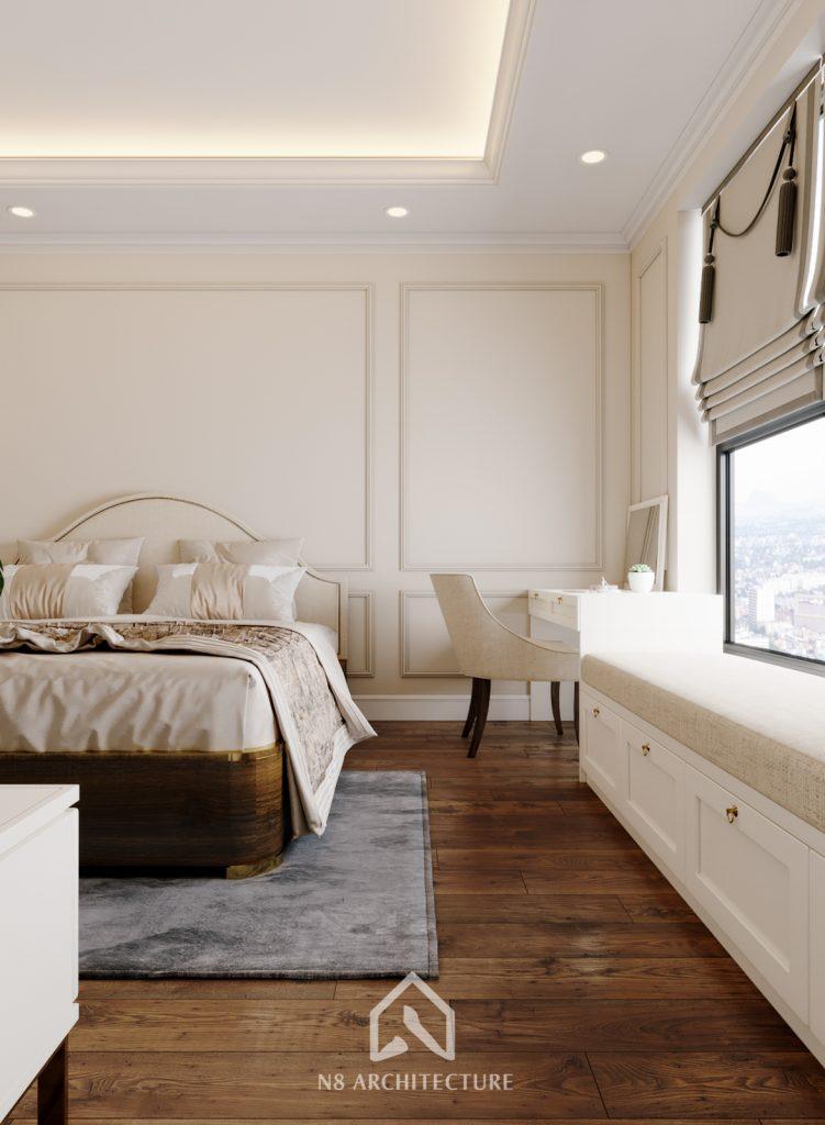 thiết kế nội thất phòng ngủ chung cư An Bình City 5