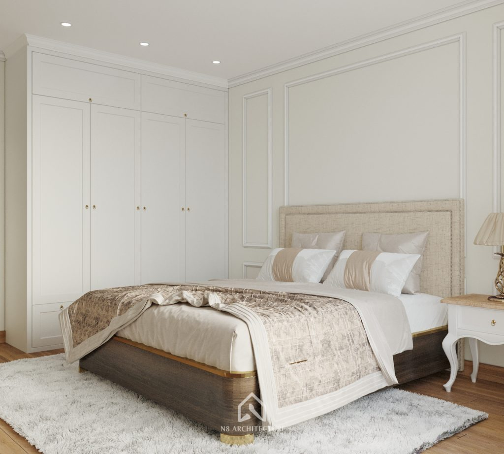 thiết kế nội thất phòng ngủ chung cư An Bình City 6