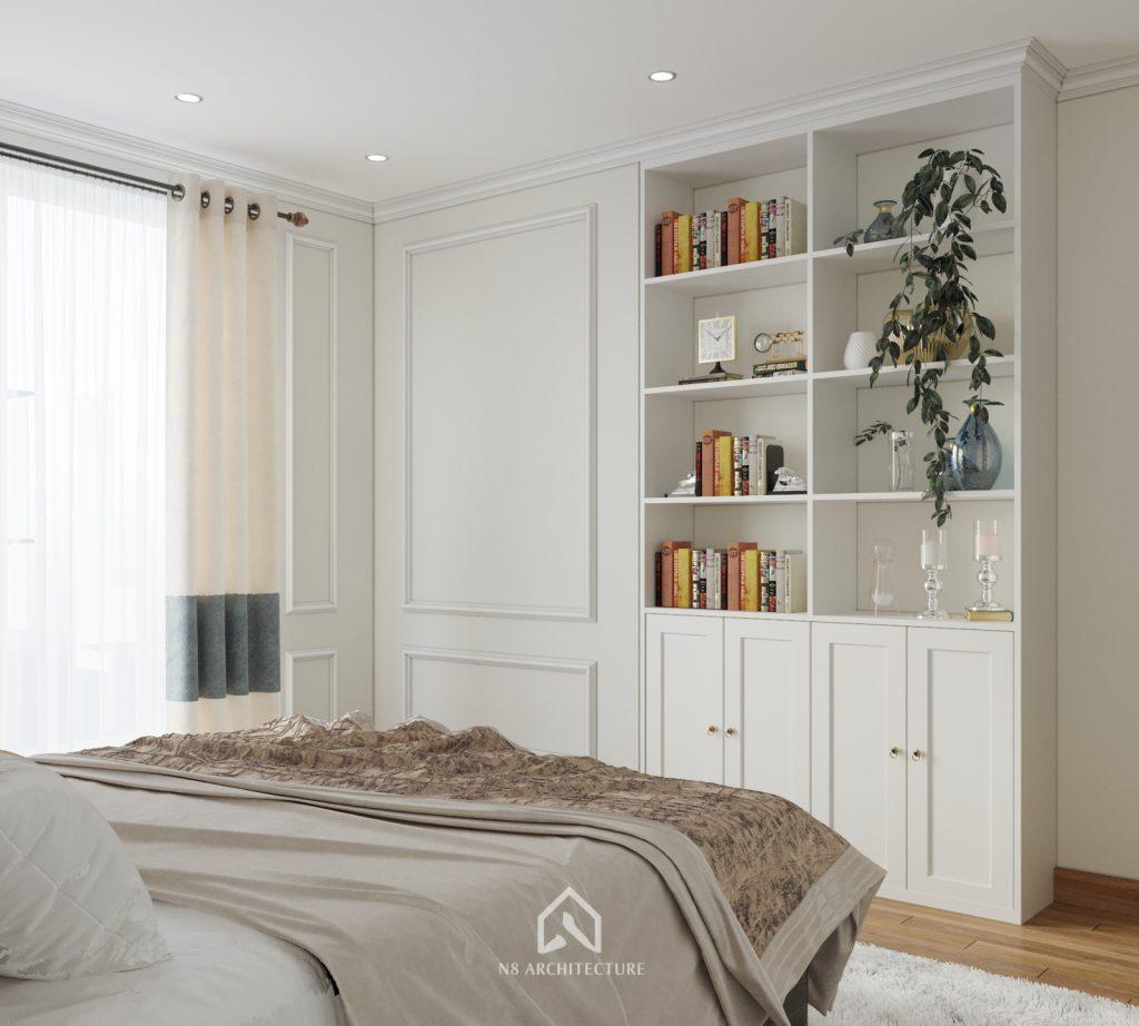 thiết kế nội thất phòng ngủ chung cư An Bình City 7