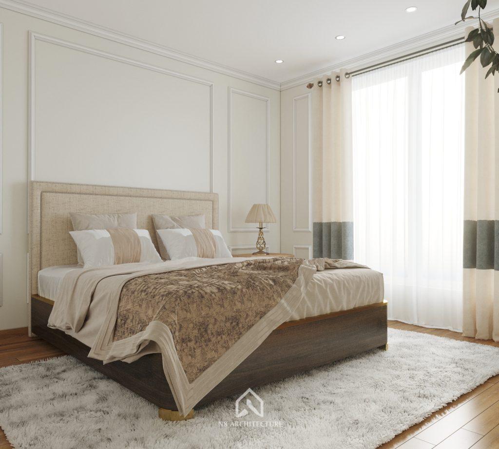 thiết kế nội thất phòng ngủ chung cư An Bình City 8