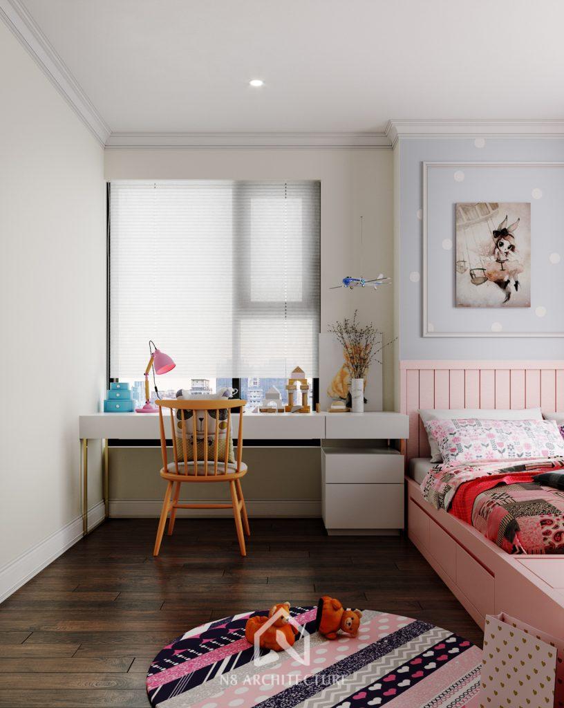 thiết kế nội thất phòng ngủ chung cư An Bình City 9
