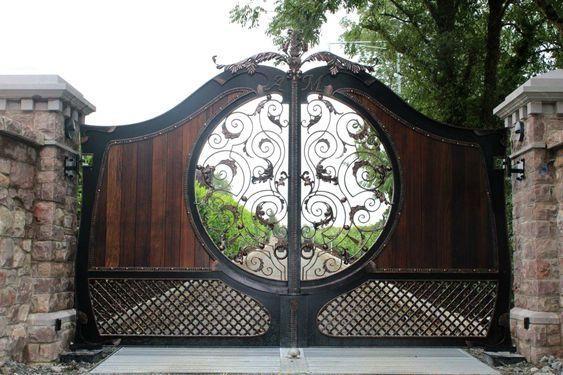 cổng nhà đơn giản mà đẹp 9