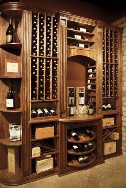mẫu tủ rượu bằng gỗ