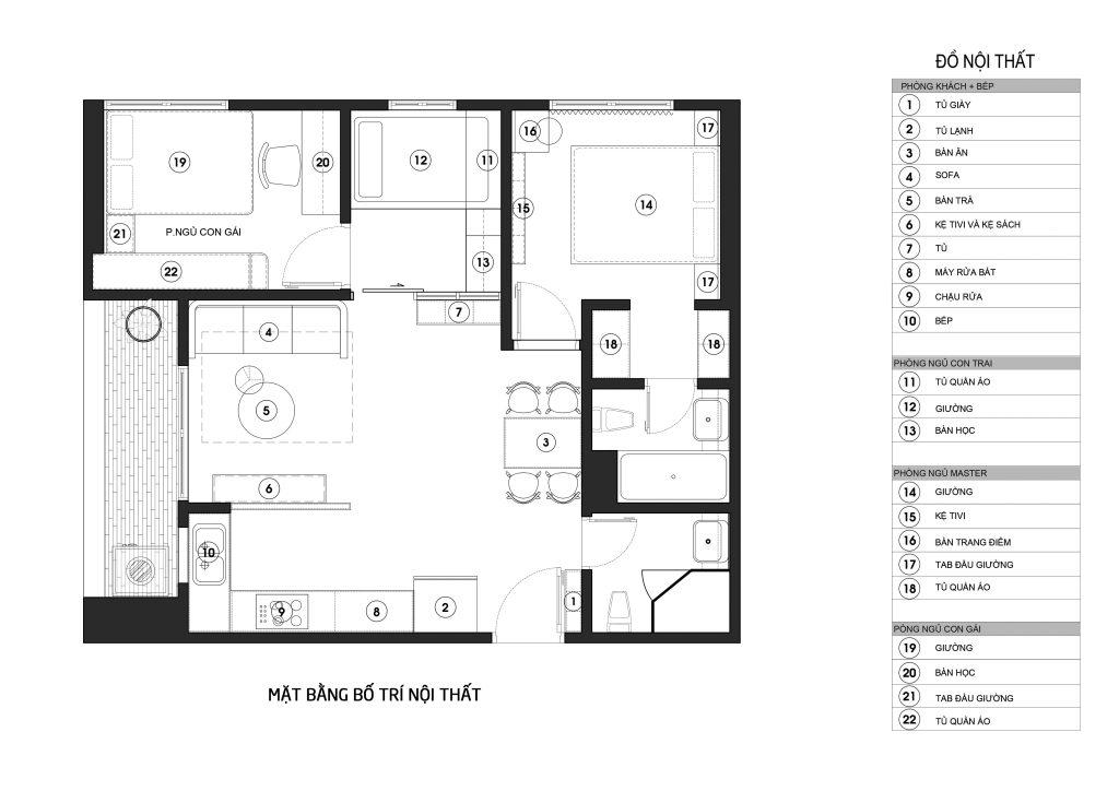 Mặt bằng bố trí nội thất căn hộ chung cư West Bay Ecopark