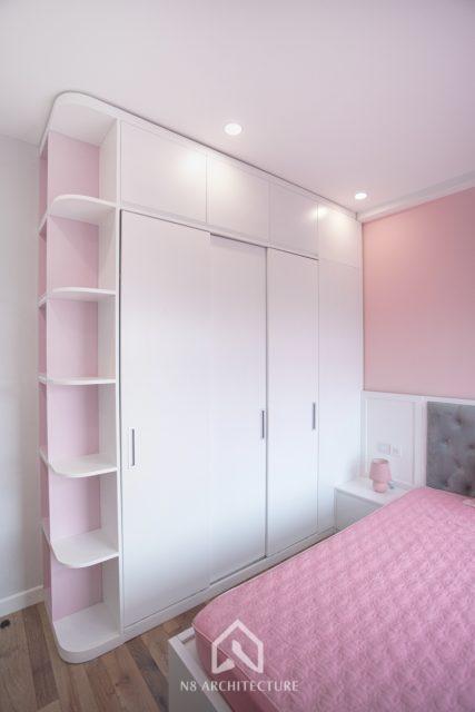 thi công nội thất phòng ngủ con gái chung cư West Bay Ecopark 9