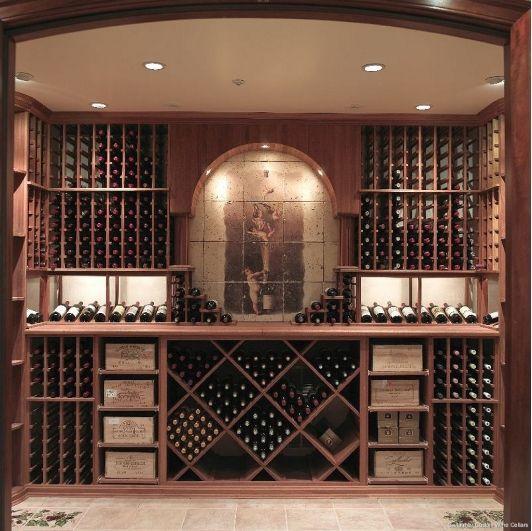 tủ rượu gỗ