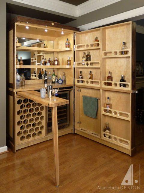 tủ rượu gỗ 3