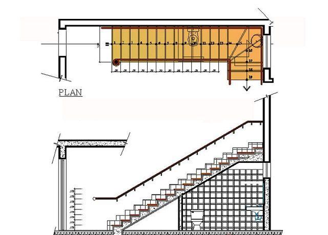 Cận cảnh bản vẽ nhà vệ sinh dưới gầm cầu thang chi tiết 2