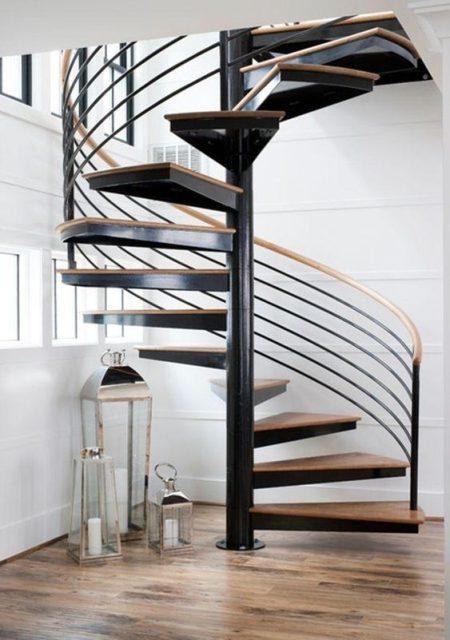 cầu thang tròn khung sắt 4