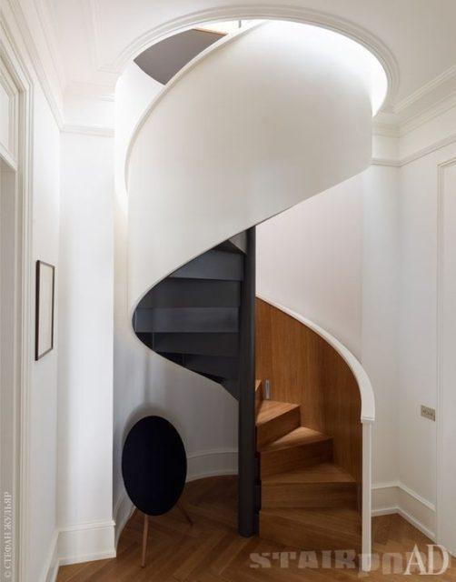cầu thang xoắn bậc gỗ 4