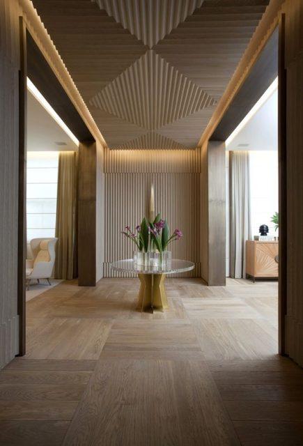 mẫu trần gỗ đơn giản đẹp 3