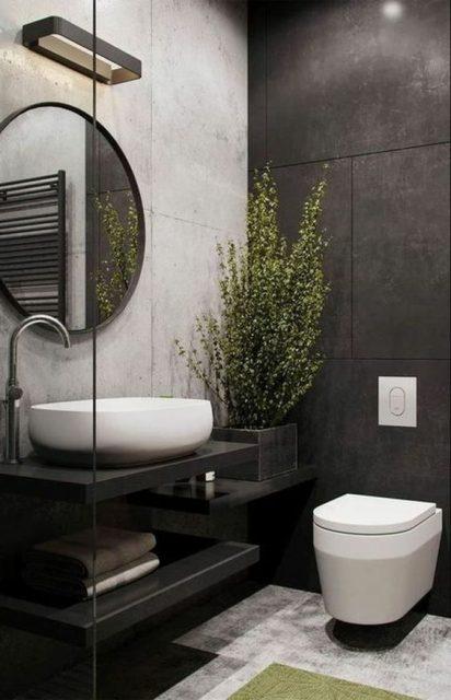 phòng vệ sinh đẹp và hợp lý