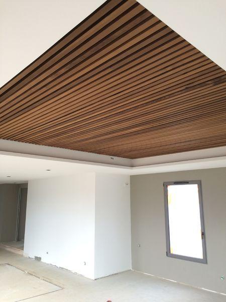 thi công trần gỗ