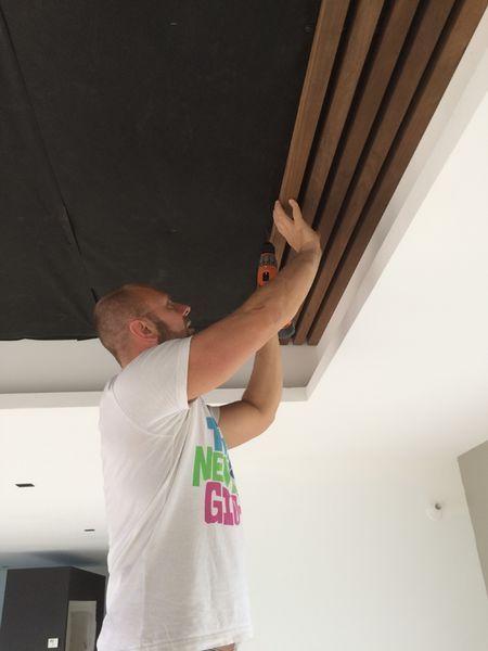 thi công trần gỗ 2