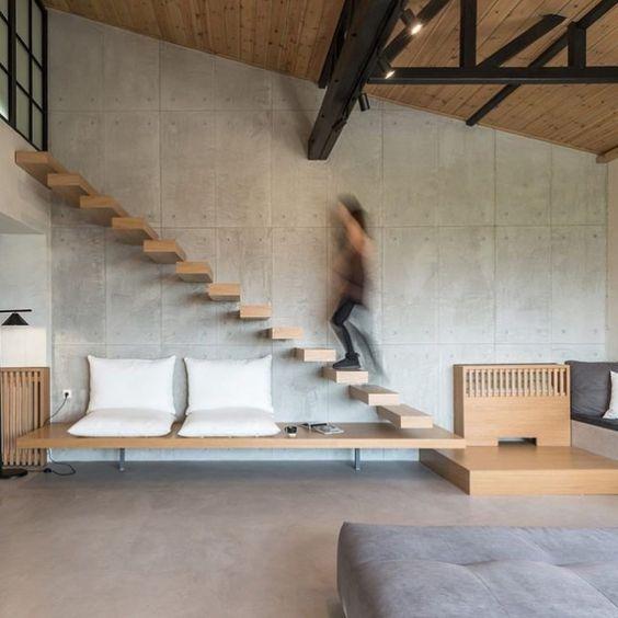 thiết kế cầu thang nhà hẹp 3