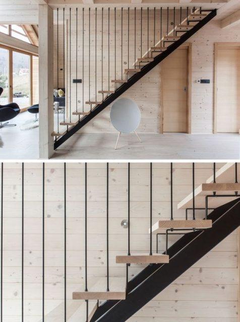 thiết kế cầu thang nhà hẹp 8