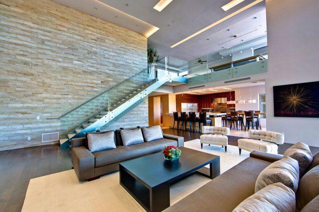 thiết kế phòng khách có cầu thang 5