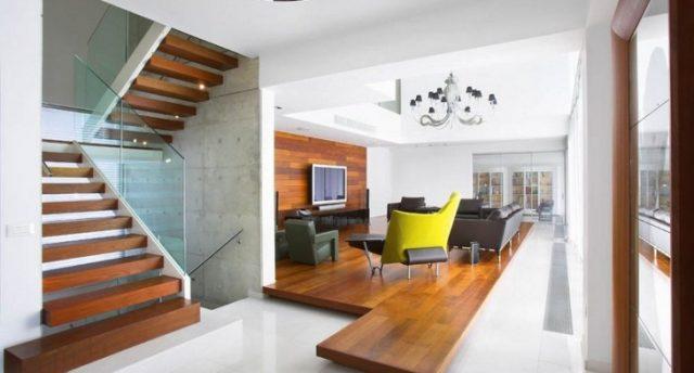thiết kế phòng khách có cầu thang 7