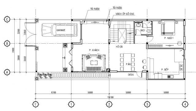 thiết kế phòng khách và cầu thang 10