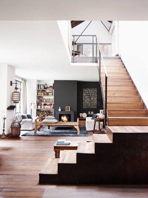 thiết kế phòng khách và cầu thang 2