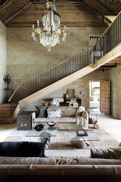 thiết kế phòng khách và cầu thang 4