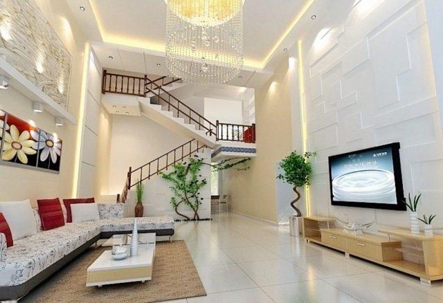 thiết kế phòng khách và cầu thang 5