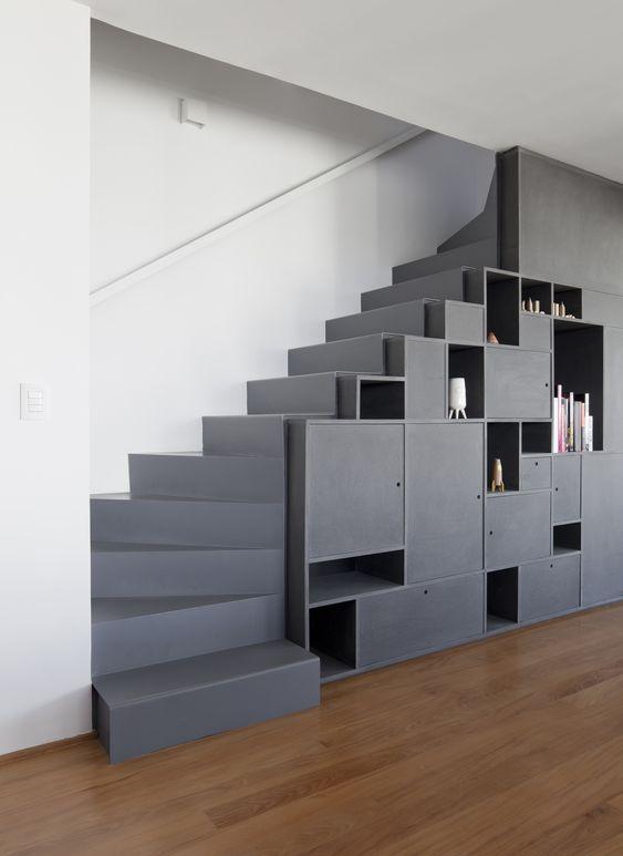 thiết kế tủ dưới gầm cầu thang