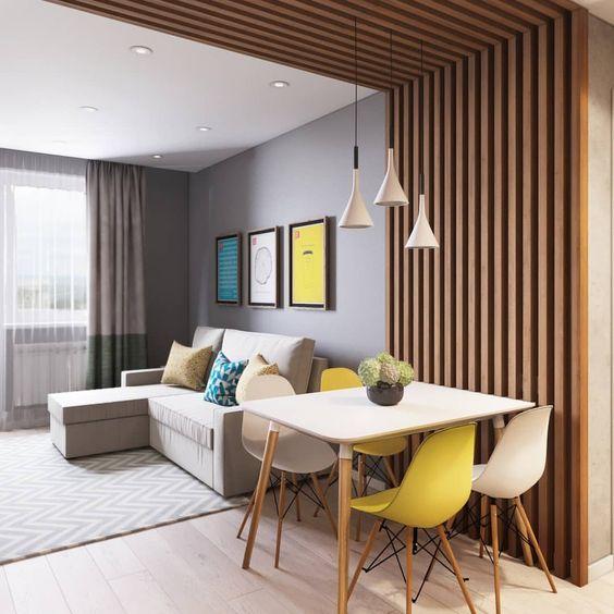 trần gỗ phòng khách đơn giản 3