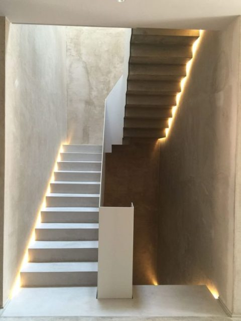 trang trí đèn cầu thang 14