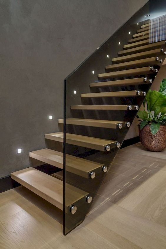 trang trí đèn cầu thang 16
