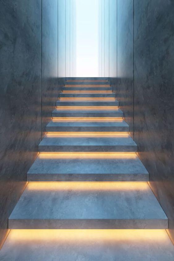 trang trí đèn cầu thang 17