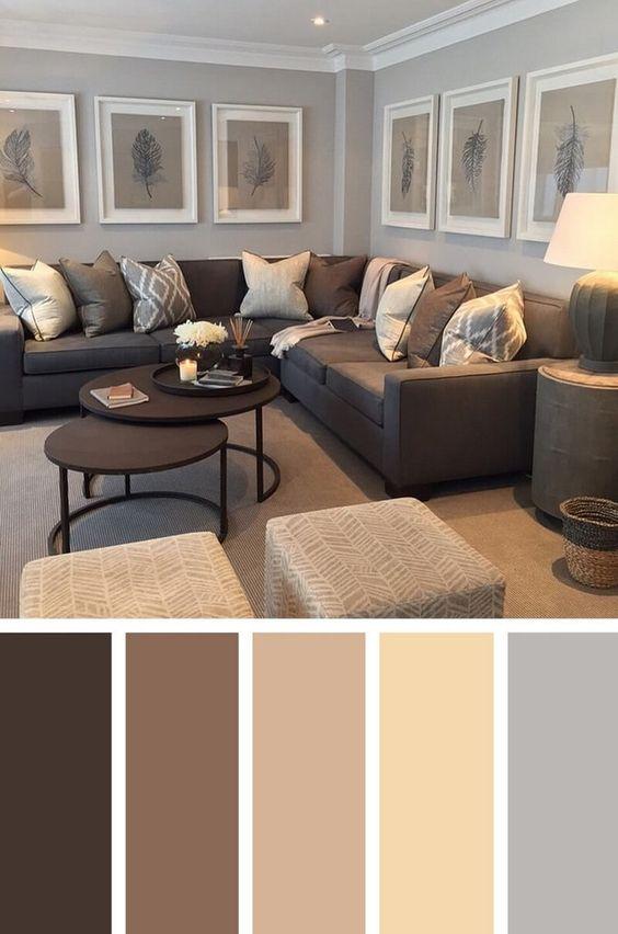 trang trí phòng khách bằng màu sắc